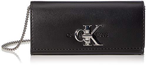 Calvin Klein Jeans Damen Clutch W/Chain Kupplung mit Kette, Schwarz, 28 Inches, Extra-Large