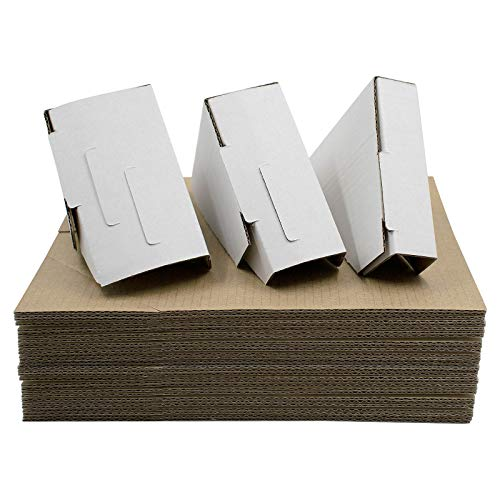 Golden State Art, Adjustable Cardboard Corner Protector for Picture Frame, Shipping, Packing or Moving Art - 3 Size Depths (Pack of 100)