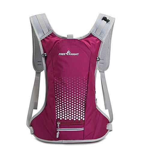 Free Knight Mochila para bicicleta de 6 l, impermeable, transpirable, con organizador para casco, mochila de hidratación para ciclismo, equitación, correr, senderismo, senderismo, rojo, rosa, large