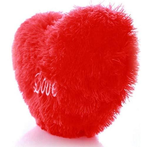 JONJUMP Cojín para sofá con forma de corazón y texto en inglés 'Love' (45 cm)