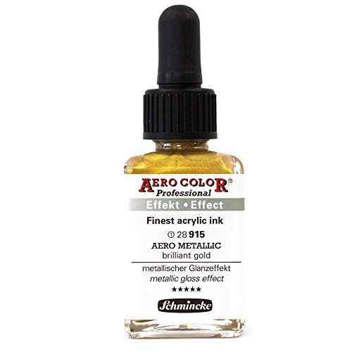 Airbrush Farbe Metallic Gold 28 915 28ml Schmincke Aero Color Professional Effekt