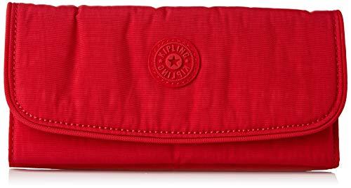 Kipling Money Land, Wallets Donna, Red Rouge, 3x18.5x10 cm