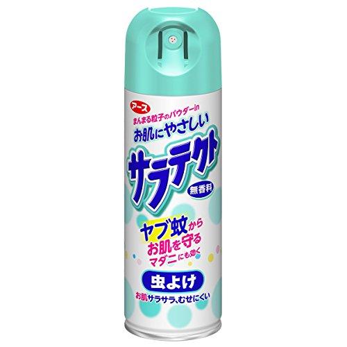 アース製薬のサラテクト・無香料・虫よけスプレー缶