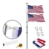 Flagpole Telescopico In Alluminio,Bandiere E Banner Esterni,Hardware Per Flagpole,Kit Da Bandiera,Palo Da Bandiera,Pali Della Bandiera,Bandiera Staffa,Palla Da Incasso All'aperto 16ft,20ft, 25ft, 30ft