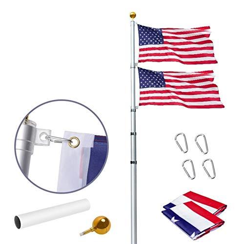Teleskop-Aluminium-Fahnenmast,Outdoor-Flaggen & Banner, Fahnenmast-Hardware, Flagge-Pole-Kit, Flagge-Pole,Fahnenhöfe Wohn-, Fahnenmast-Halterung Im Freien, Flagge-Pole Für Haus, 16ft, 20ft, 25ft, 30ft