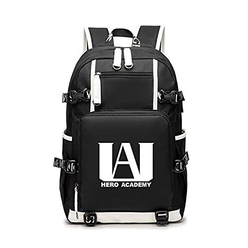 WWZY Mochila Escolares para Ordenador Anime My Hero Academia Bolsa para portátil con Puerto de Carga USB Backpack Unisex Daypack Rucksack para Estudio, Viajes Trabajo, Actividades,C