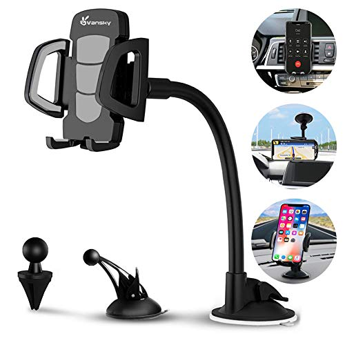 Car Phone Mount, Vansky 3-in-1 Universal Cell Phone Holder Car Air Vent Holder