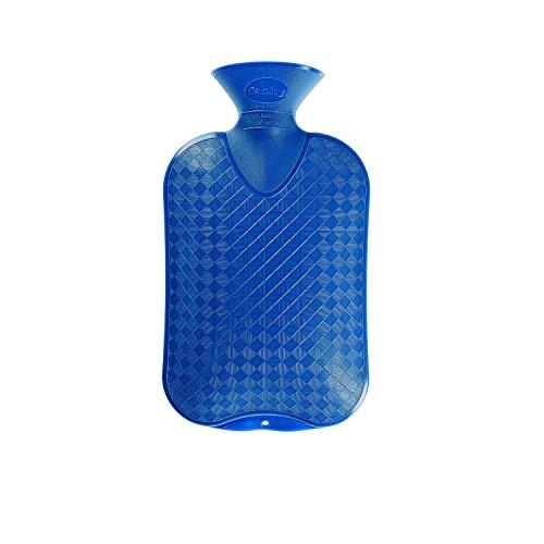 Fashy 6420 54 Wärmflasche 2,0 L glatte Ausführung, Farbe saphir