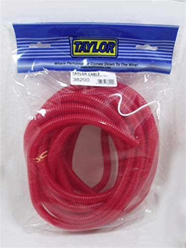Taylor Cable 38200 Red Convoluted Tubing