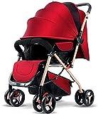 Cochecito de viaje para niños recién nacidos Niño 2 en 1 Cochecito plegable de cochecito plegable Legable Ajustable Legal para niños Niño Niño Cochecito de nacimiento a 25 kg