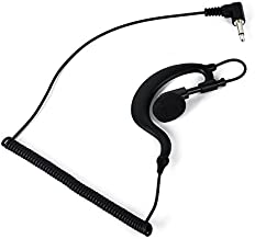 G Shape Soft Ear Hook Earpiece Headset 3.5mm Plug Ear Hook Listen Only Ham Radio..