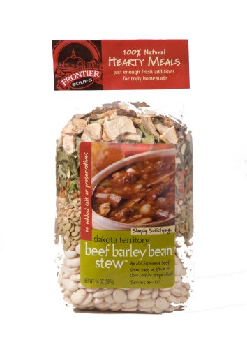 Frontier Soups Hearty Meals Dakota Territory  Beef Barley Bean Stew, 14-Ounce...