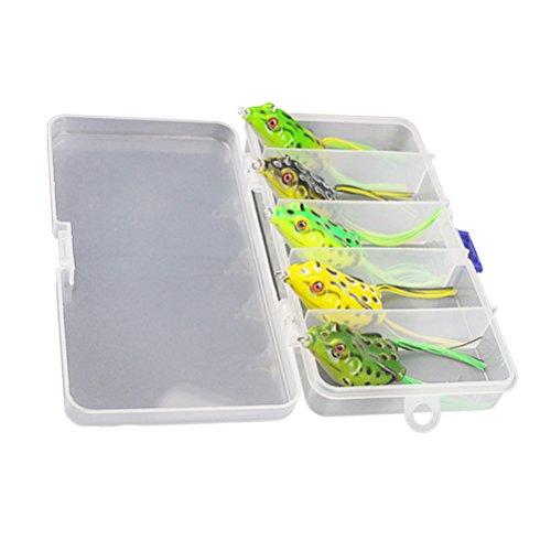 WINOMO Gummifrosch Frosch Box für Angler Angeln Meer 5-teilig