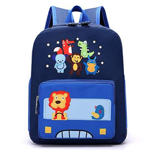 Mochilas para niños con estampado de dibujos animados para niños y niñas al aire libre con, Blue (Azul) - guangruiorrtysjb3TT904704-BL
