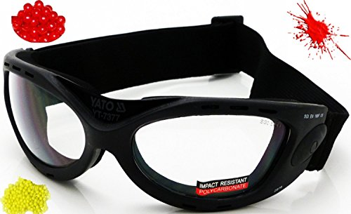 Nerd Clear Pitch Black Airsoft Schutzbrille YT-7377