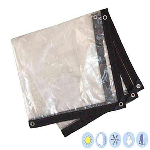 YU-CZ0 Garden Outdoor Clear Tarpaulin Heavy-Duty Waterproof Cloth PE Material Soft 120G / M²,2 * 2M