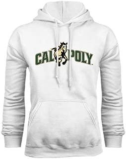 Cal Poly White Fleece Hoodie 'Calpoly w/ Mustang'