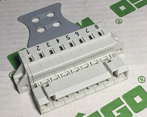 Preisvergleich Produktbild Wago 721-608 / 000-004 Stecker 8-polig 100% Schutz gegen Mismating 2, 5 mm2 Pas: 5 mm