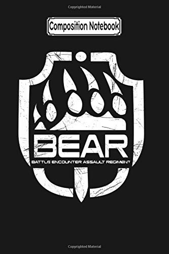 Composition Notebook: Bear Escape from Tarkov Escape from Tarkov Bear Logo Journal Notebook Blank Lined Ruled 6x9 100 Pages