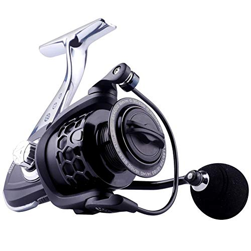 Carrete De Pesca De Alta Velocidad Ligero Cuerpo De Carrete De Metal Completo 8KG MAX Drag Carrete Giratorio Accesorios De Pesca De Agua Salada GK1000
