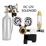 Aquarium CO2 Regulator with 12 DC Solenoid-Big Dual Gauge Display Bubble Counter,Check Valve Fits Standard US Tanks-Accurate and Easy to Adjust Flow Meter