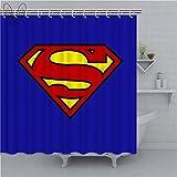 AYogg Duschvorhang Superman Logo Duschvorhänge Filme Symbol Wasserdichter Stoff Badvorhänge