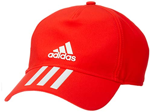 adidas 6-Panel 3-Stripes Climalite Cap – Unisex Kinder one Size Active Red/White