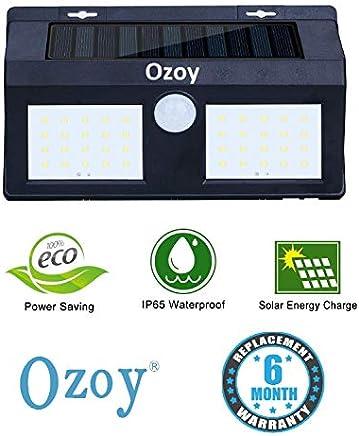 Ozoy Motion Sensor Waterproof 40 LED Solar Light Solar Powered LED Garden Light White Light Outdoor Emergency Wall Lamp (Waterproof and Weather Resistance)