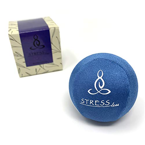 Hand Therapy Stress Ball - Perfect for Anxiety, Stress Relief and Hand Strengthening (Blue)