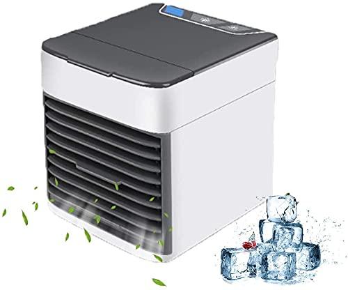 XINGDONG Acondicionador de aire personal Mini, Mini acondicionador de aire compacto, humidificador, purificador con 7 colores LED luz LED, escritorio de 3 velocidades para el hogar, sala, oficina dura