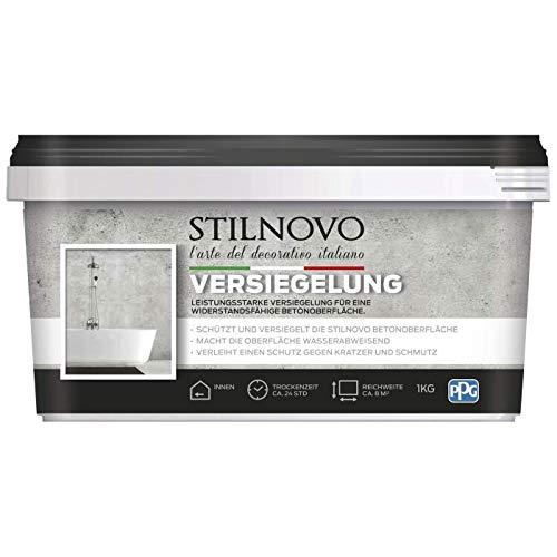 STILNOVO Beton Versiegelung, farblose Versiegelung der STILNOVO Betonoberfläche für eine widerstandsfähige Oberfläche, wasserabweisend, 1 kg