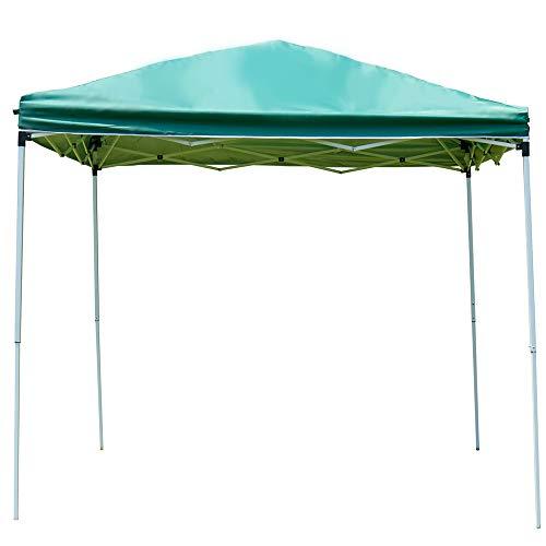 アイリスプラザ タープテント ワンタッチ 2.5×2.5M グリーン シルバーコーティング UVカット