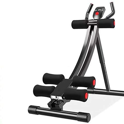 DFGVDFVBDFV Formateur AB ABD ABS, Taille Pliable 5 Minutes 5 Minutes Shaper Fitness Toner Body EX Exercices d'exercice avec Compteur LED, exerciseur de Gym de la Maison,Noir