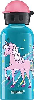 Sigg Leak Proof BPA Free Bella Unicorn Kids Water Bottle, 13oz