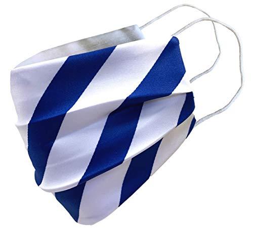 Royal Blue & White Striped Face Mask