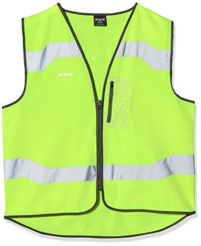 WOWOW Drone Jacket - Chaleco Reflectante de Seguridad para Adulto, Talla L, Color Amarillo