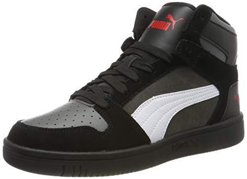 Puma Rebound Layup SD, Baskets Mixte Adulte, NoirUK (Puma Black-Castlerock-Puma White-High Risk Red 02),8.5 UK (42.5 EU)