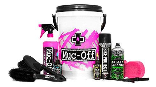 Muc-Off - Kit completo per la pulizia della bicicletta, include pulitore per bici, pulitore per catena, protezione della bici, lubrificante per catena, spazzole e spugna