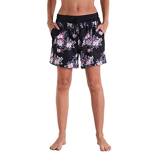 Pantalones Cortos Deportivos Casuales De Yoga para Mujer, Pantalones Cortos De Cintura Elástica con Cordón para Entrenamiento De Verano Pantalones Cortos Cómodos para Correr,6,L
