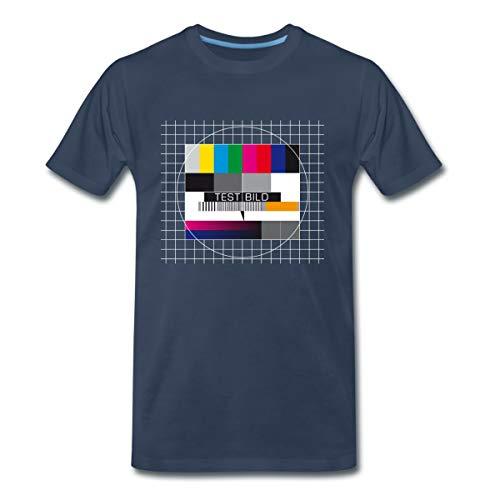 TV Testbild Fernseher Retro Männer Premium T-Shirt, 3XL, Navy