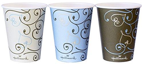 ペーパーカップ ホールマーク 厚紙カップ ハート 280ml 9oz 50個 3色込み AC2850HT