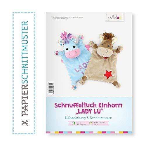 """kullaloo Einhorn Schnuffeltuch nähen: Papierschnittmuster Einhorn/Pferd """"Lady LU"""""""