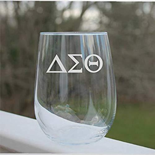 Weingläser, griechische Buchstaben, Weinglas, ohne Stiel, Lasergravur, Whiskey-Glas, individuelles Schnapsglas, 425 ml