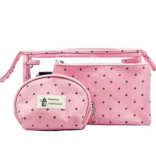 Sac Maquillage Trousse de Toilette Voyage Accessoires pour Femmes Cosmétique Pochettes pour Les Femmes Sacs de Voyage pour Femmes Pink