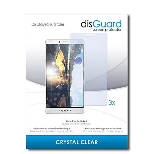 disGuard® Bildschirmschutzfolie [Crystal Clear] kompatibel mit Oppo R7 Plus [3 Stück] Kristallklar, Transparent, Unsichtbar, Extrem Kratzfest, Anti-Fingerabdruck - Panzerglas Folie, Schutzfolie