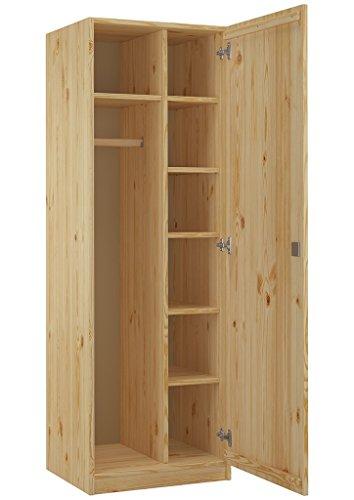 Erst-Holz Armadio casellario con Serratura e Molti Scomparti in Pino massello Eco 90.60-42