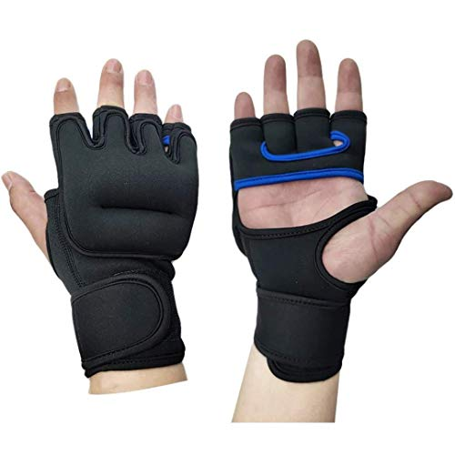 OSS - Weighted Gloves for Cardio & Heavy Hands (Pair) - 1lb x 2 1 Pound Each Glove MMA Cardio Aerobics Hand Speed Coordination Shoulder Strength