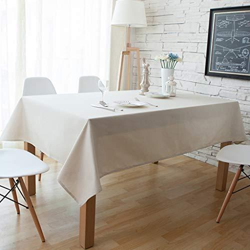 Nappe blanche oblongue, nappe rectangulaire en polyester, pour mariage au restaurant (taille : 140 * 140cm)