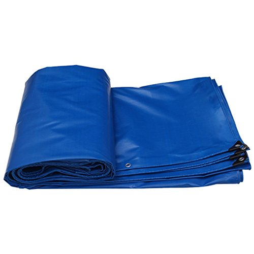 Blue Heavy Duty Poly Tarpaulin, Pool Ground Cloth Tarp Cover Garden Rain Cover, Tarpaulin Sheet Cloth For Tent Windproof Waterfool And Sunshade (Size : 4MX3M/13FTX10FT)