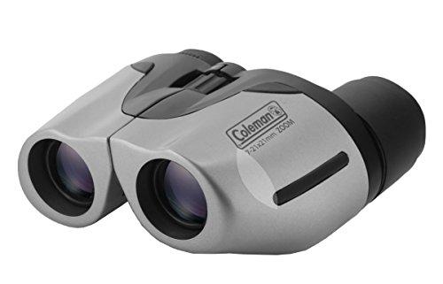 Coleman 7-21x21 Compact Zoom Binoculars, Silver (CZ72121)